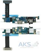 Шлейф для Samsung G925F Galaxy S6 Edge с разъемом зарядки и гарнитуры Original