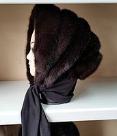 Женская норковая косынка цвет шоколад