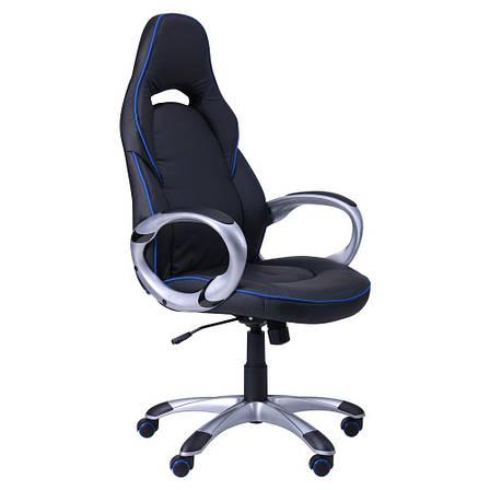 Кресло Страйк (CX 0496H Y10) Черный/кант Синий, фото 2