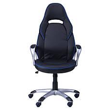 Кресло Страйк (CX 0496H Y10) Черный/кант Синий, фото 3