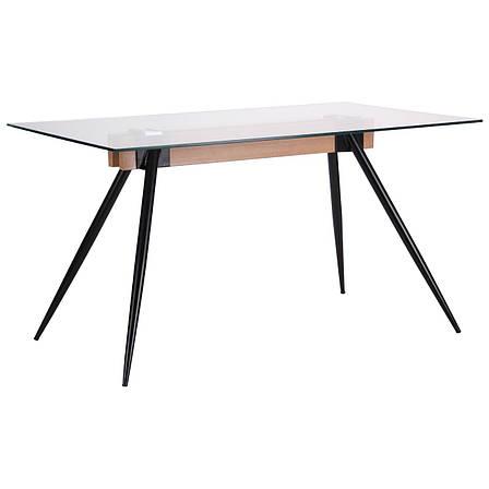 Стол обеденный Корлеоне  черный/стекло прозрачное, фото 2