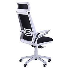 Кресло Tesla сетка черная, каркас белый, фото 3