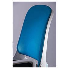 Кресло Виреон белый/сетка голубая (W-158B), фото 3