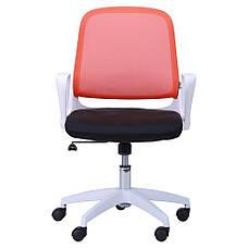 Кресло Виреон белый/сетка оранж (W-158B), фото 3