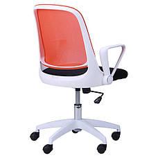 Кресло Виреон белый/сетка оранж (W-158B), фото 2
