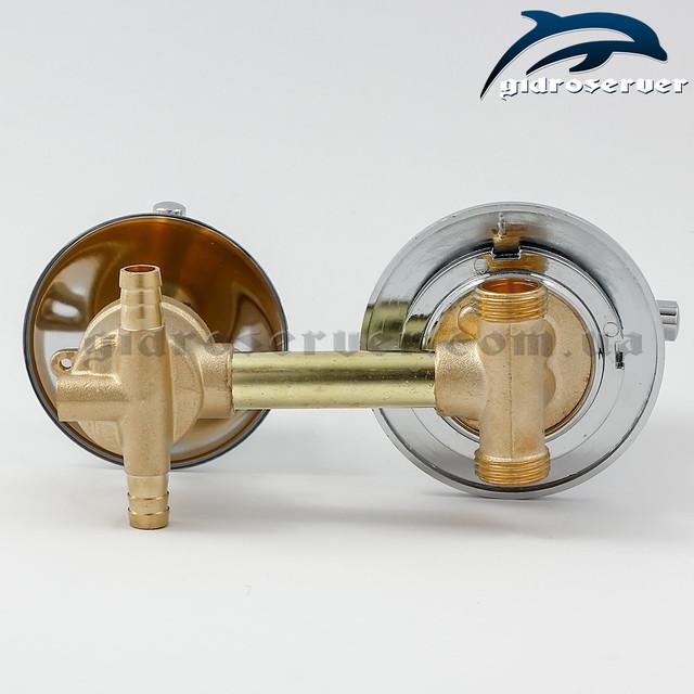 Смеситель для душевой кабины, гидробокса S2-100 с расстоянием между центрами узлов 100 мм.