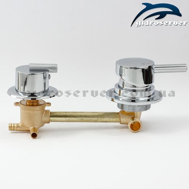 Смеситель для душевого бокса, гидробокса S3-150 на 3 режима работы дивертора-переключателя.