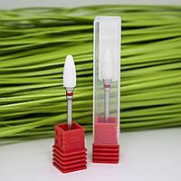 Фреза керамическая кукуруза для снятия гель-лака, красная