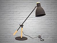 Стильная настольная лампа с деревянным каркасом&3094BK