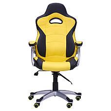 Кресло Форсаж №1 (1712) к/з PU черный/желтые вставки, фото 3