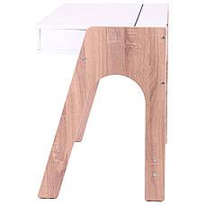 Компьютерный стол Esenin белый+орех светлый/белый, фото 2