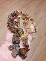 Янтарь натуральный бусы из необработанного янтаря янтарные бусы колье 45см, фото 1