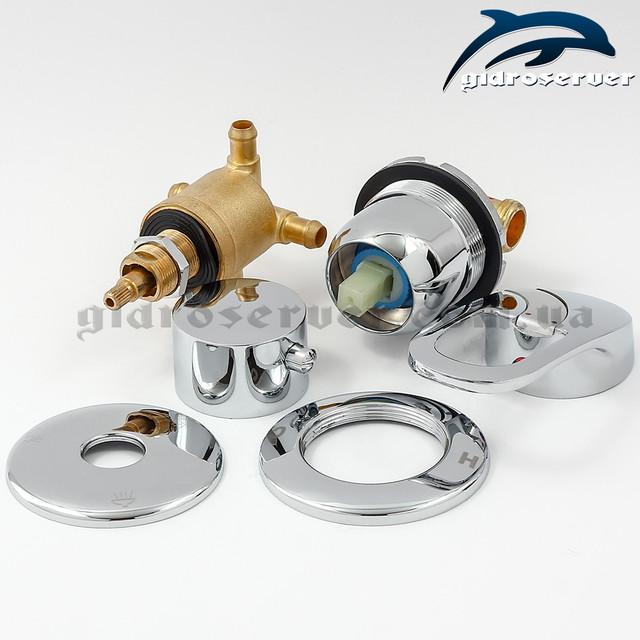 Смеситель для душевых кабин, гидрбоксов S3-200 с соединениями на переключателе под штуцер (елочку) 10 мм.
