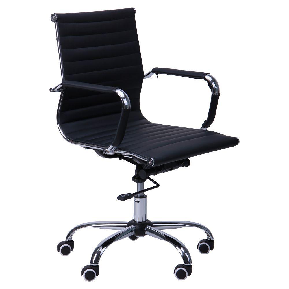 Кресло Слим LB кожзам PU черный