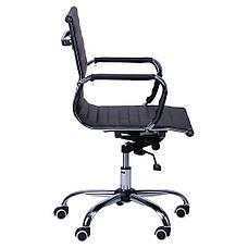 Кресло Слим LB кожзам PU черный, фото 2