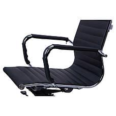 Кресло Слим LB кожзам PU черный, фото 3
