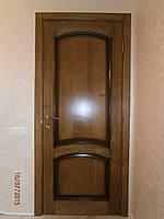 Дерев'яні міжкімнатні двері масив ясеня патина, фото 1