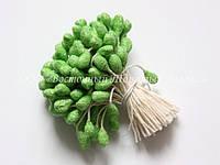 Тычинки для цветов «Светло-зеленые с блестками»