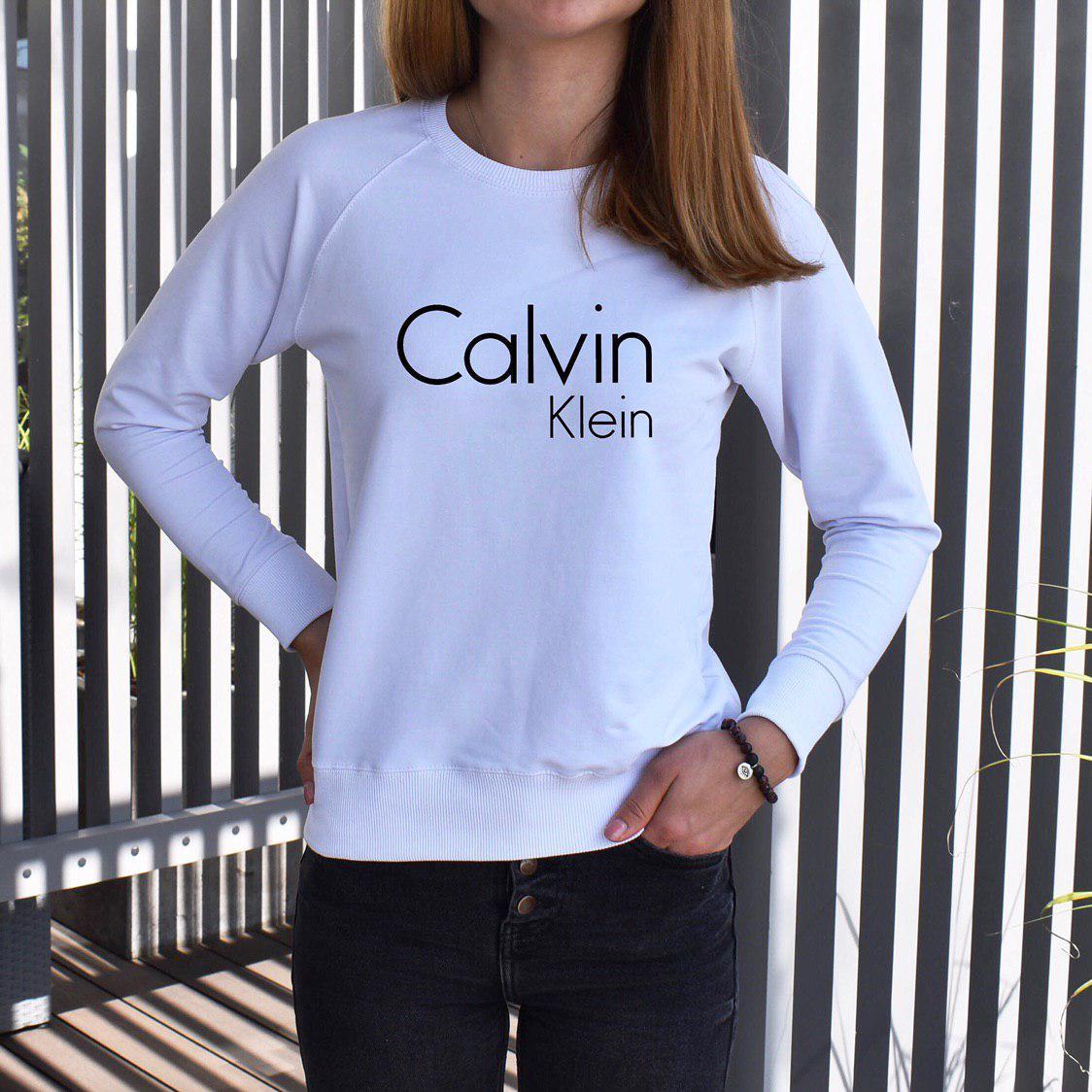 Світшот жіночий Klein білого кольору, з рукавом реглан