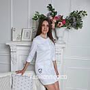 """Жіночий медичний халат """"Верона long"""" з вишивкою, фото 3"""