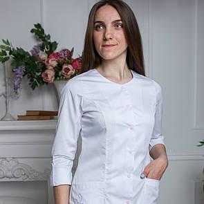 """Женский медицинский халат """" Верона long """" с вышивкой"""
