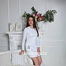 """Жіночий медичний халат """"Верона long"""" з вишивкою, фото 2"""