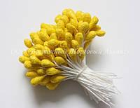 Тычинки для цветов «Желтые с блестками»
