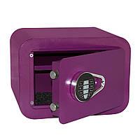 Акция! Качественный мебельный сейф 35х25х28см ENERGY VIOLET. взломостойкий электронный кодовый замок