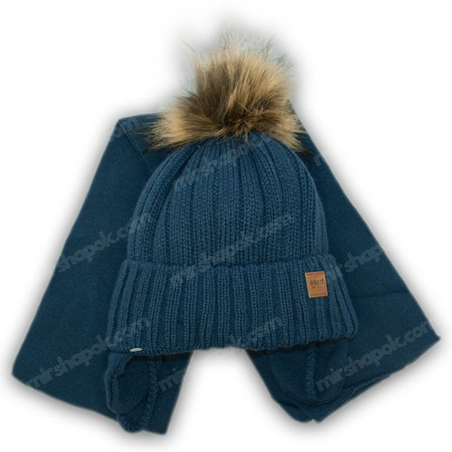 Детский комплект - шапка и шарф для мальчика