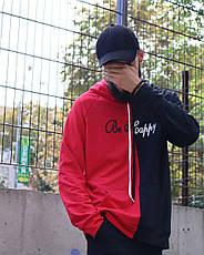 Толстовка Худи Be Happy черно-красный, фото 2