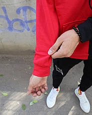 Толстовка Худи Be Happy черно-красный, фото 3