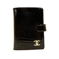 Визитница кожаная женская Chanel 9001 черная, расцветки