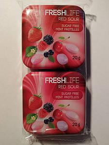 Драже Fresh Life Red Sour, 2*20г