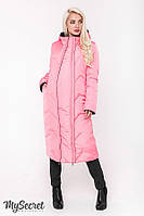 Супер-стильное зимнее двухстороннее пальто для беременных ТМ Юла Мама  Tokyo OW-48.065, фото 1