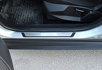 Hyundai Elantra 2011-2015 гг. Накладки на пороги Flexill (4 шт, нерж) Exclusive
