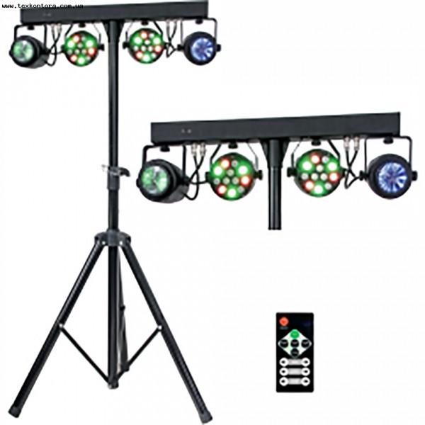 Мобильный комплект шоу свето-приборов SET BEAM+PAR