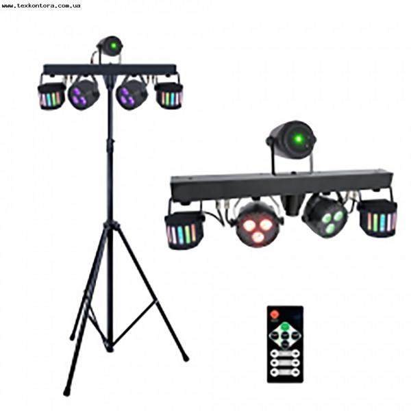 Мобильный комплект шоу свето-приборов SET PAR+DERBY+LASER