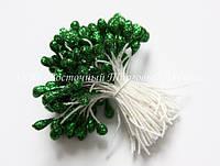 Тычинки для цветов «Темно-зеленые с блестками»