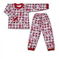 Трикотажная детская пижама с начесом