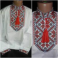 """Рубашка с вышивкой """"Марк"""" мальчику, поплин, рост 134-152 см., 220/190 (цена за 1 шт. + 30 гр.)"""