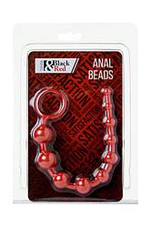 Анальний ланцюжок - Black & Red, Anal chain, waterproof, PVC, red, 31 cm, O 2.3 cm