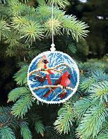 Набор для вышивки нитками Новогодняя игрушка В преддверие нового года