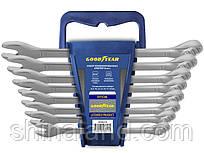 Набір ключів рожково-накидних 8-19мм, 8 одиниць, CrV, Goodyear GY002208