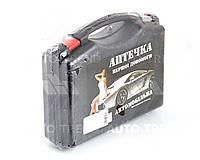 Аптечка автомобильная 24 предм. черный футляр, охл. контейнер (Украина). AP-NEW