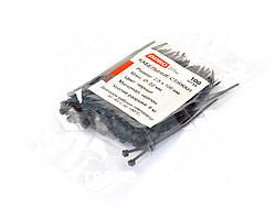 Хомут пластиковый 100х2,5мм (100х3мм) черный (100 шт.) уп. (APRO). 22084