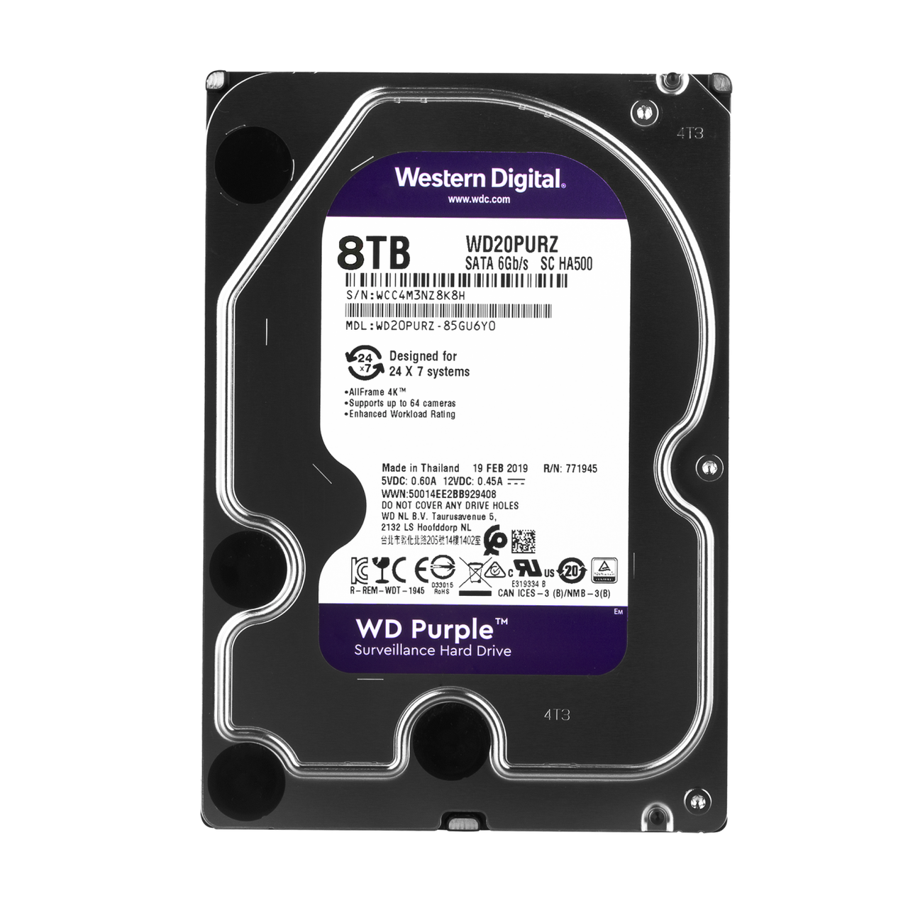 Жесткий диск Western Digital 8TB Purple