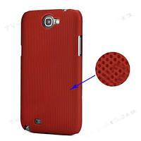 Чехол перфорированный на Samsung Galaxy Note 2 II N7100, красный