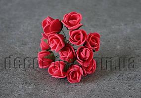 Букет красных розочек из латекса 1,5-2 см
