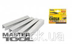 MasterTool  Скобы каленые  6 мм,1000 шт, Арт.: 41-0306