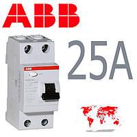 Диффреле УЗО ABB FH202 АС-25/0.03  (30mA)